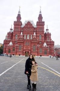 Laura et Victoria à Moscow.